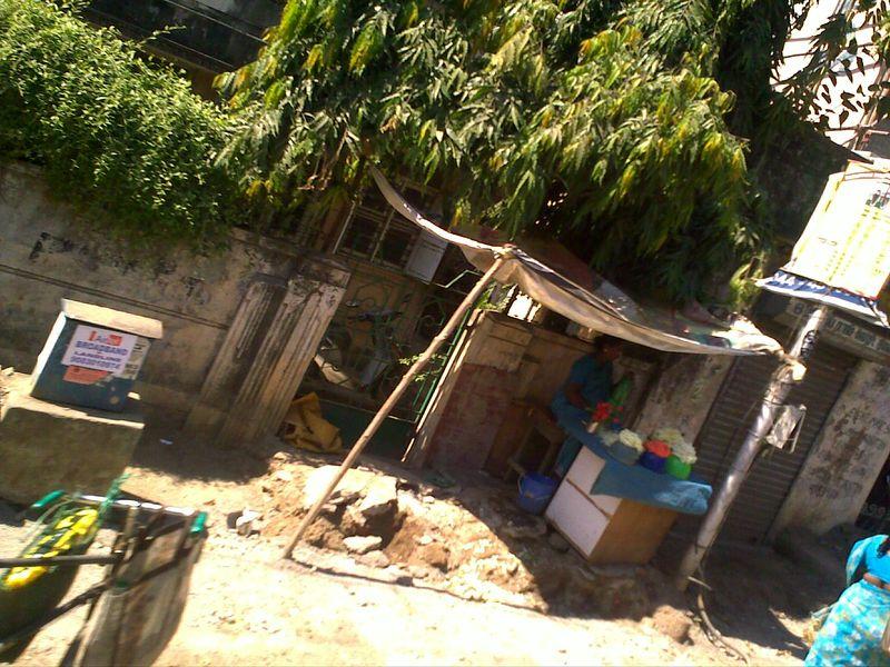 Flower seller shack