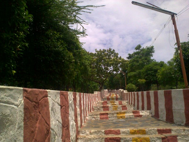 Steps leading to hillock temple