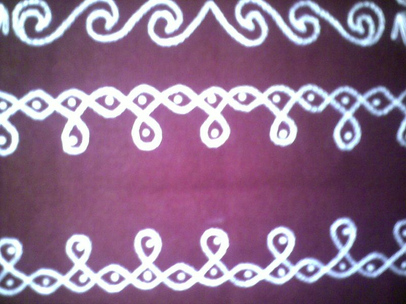 Embroidary kolam closeup